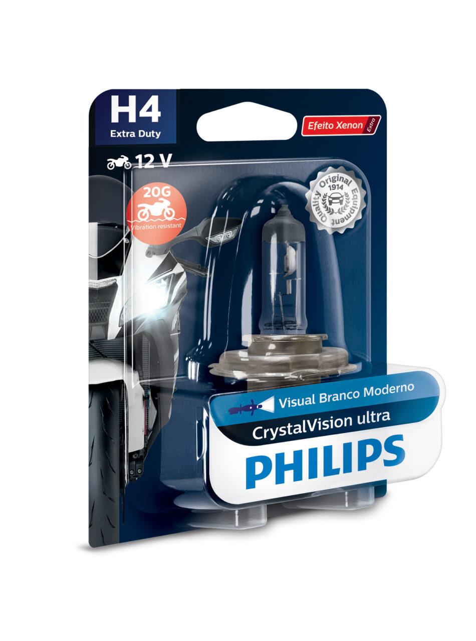 Lampada Farol Philips H4 12v 35/35w Extra Duty Cristal Vision (12458edcvmbw) Cg 125 /08 - Cg 150 - Cbx 250 Twister 01 A
