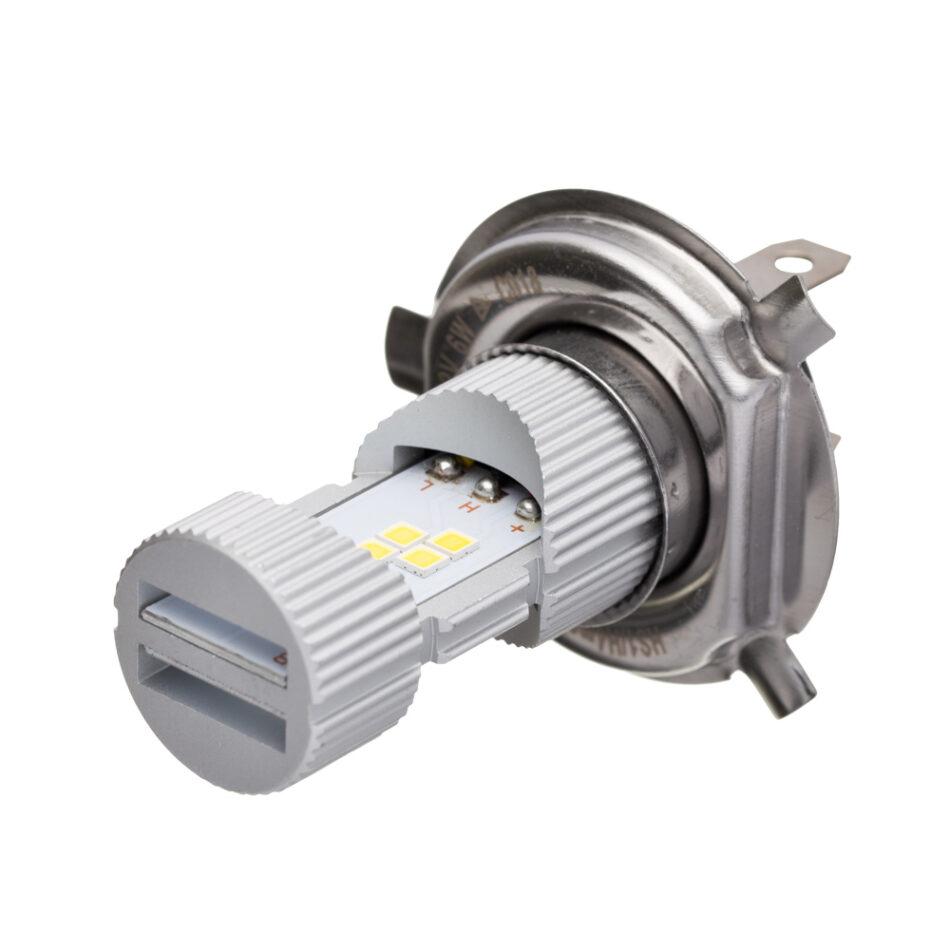 Lampada Farol Philips/haloway H4/hs1 Led Moto (led H4moto Hal) - Luz Branca Brilhante 6500k Maior Visibilidade - Design