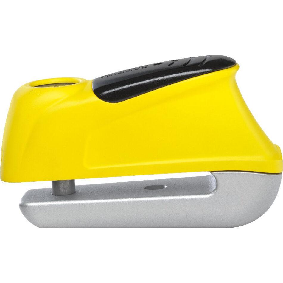 Trava De Disco C/ Alarme Abus Trigger Alarm 350 Amarelo