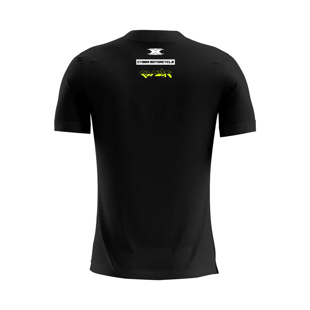 Camiseta Texx Preta Cyber Verde
