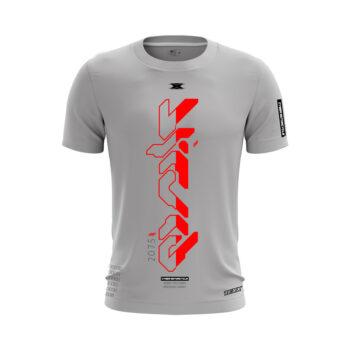 Camiseta Texx Branca Cyber Vermelha