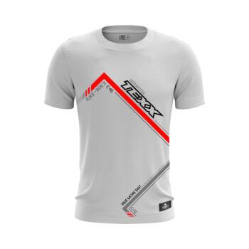 Camiseta Texx Branca Box Vermelha