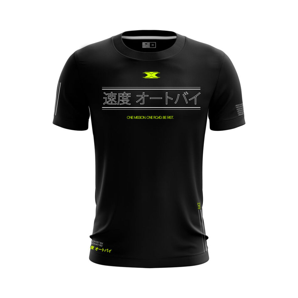 Camiseta Texx Preta Okinawa Verde