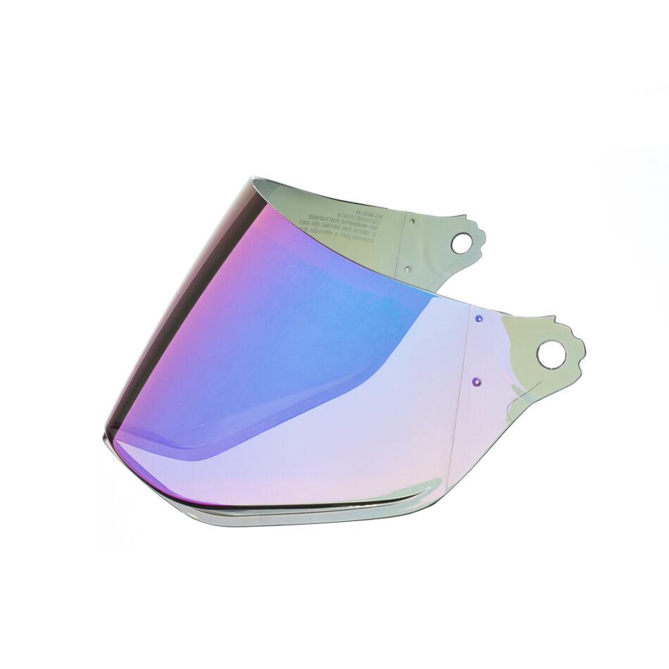 Viseira Capacete Texx Azul Iridium Mod. Mx Double Vision