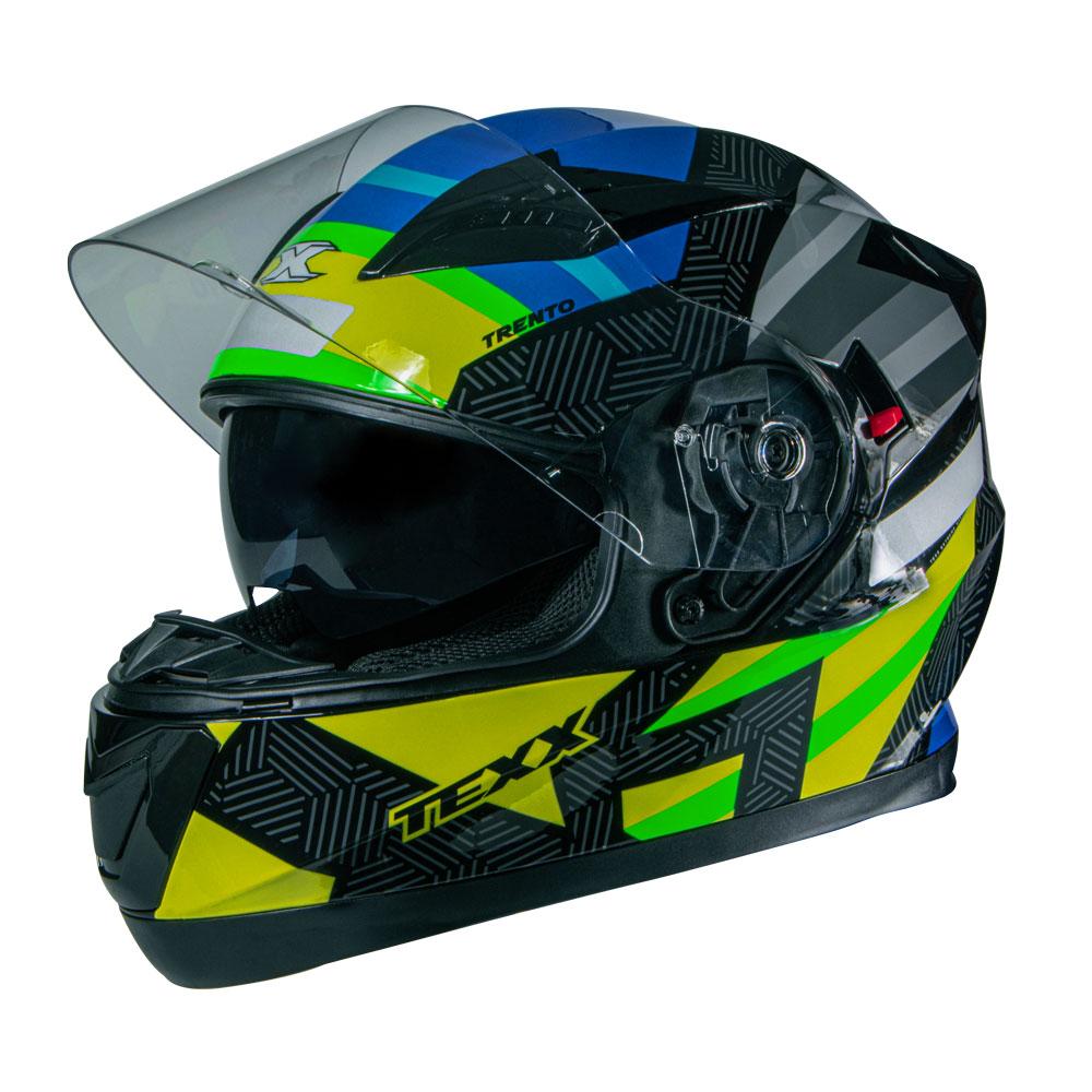 Capacete Texx G2 Trento Amarelo Verde