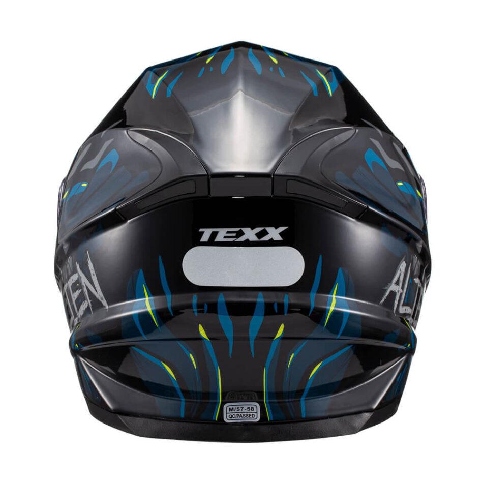 Capacete Texx Hawk Alien Azul Preto