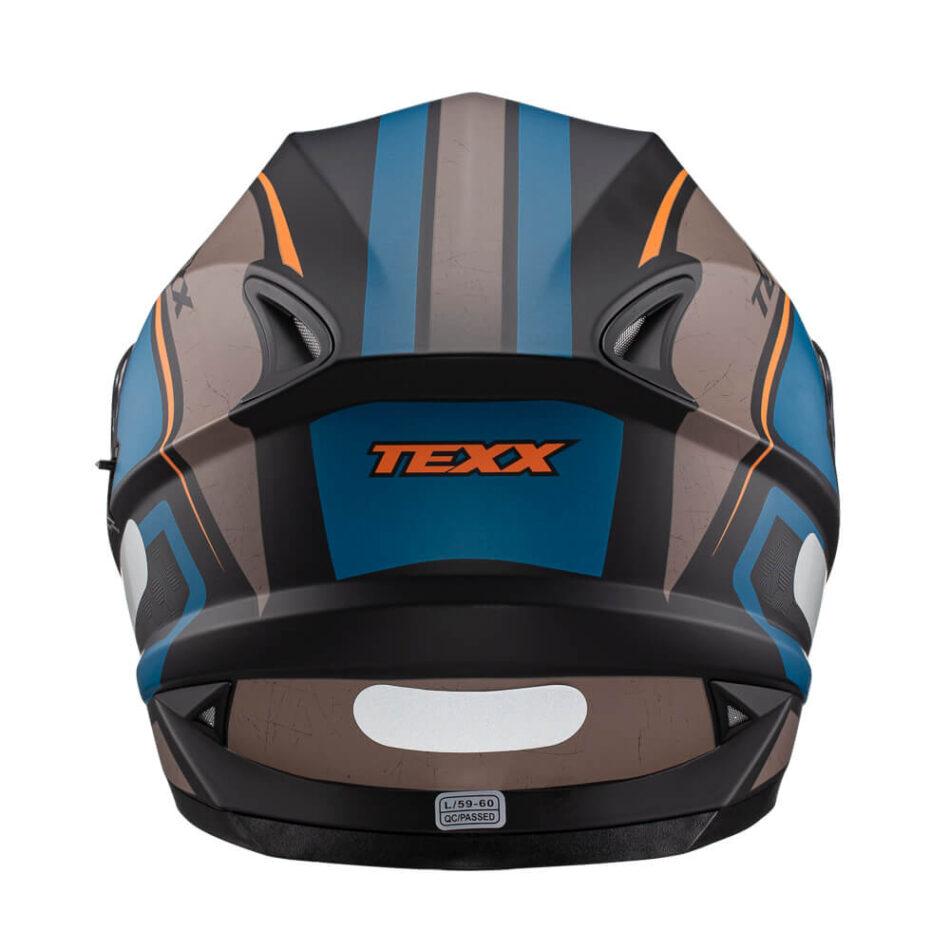 Capacete Texx Wing Broker Azul E Laranja