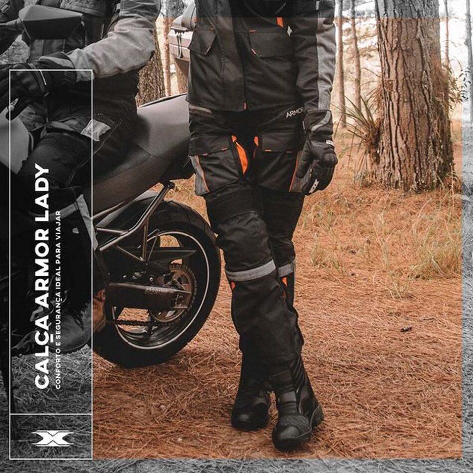 Calca Texx Armor Ld Feminina Cinza E Laranja