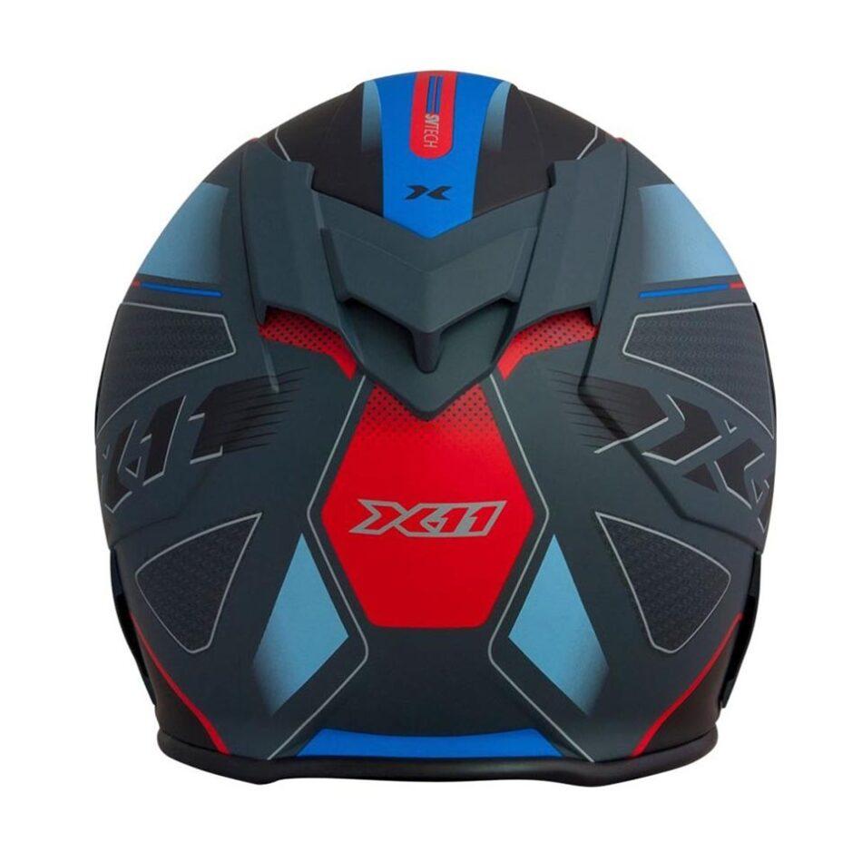 Capacete X11Revo Pro Flagger SV Vermelho + Viseira Extra