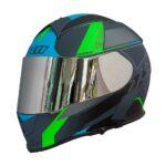 Capacete X11Revo Pro Flagger SV Verde + Viseira Extra