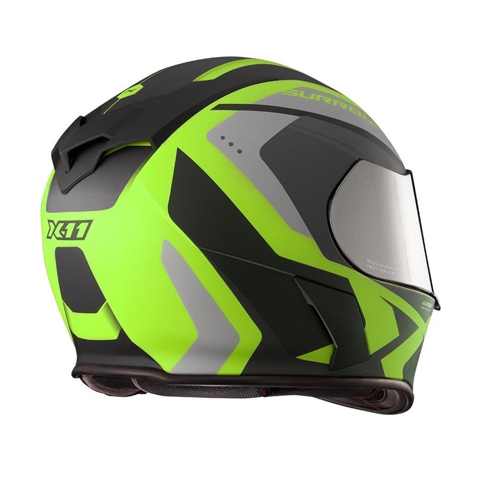 Capacete X11 Revo Pro Surround Verde Neon