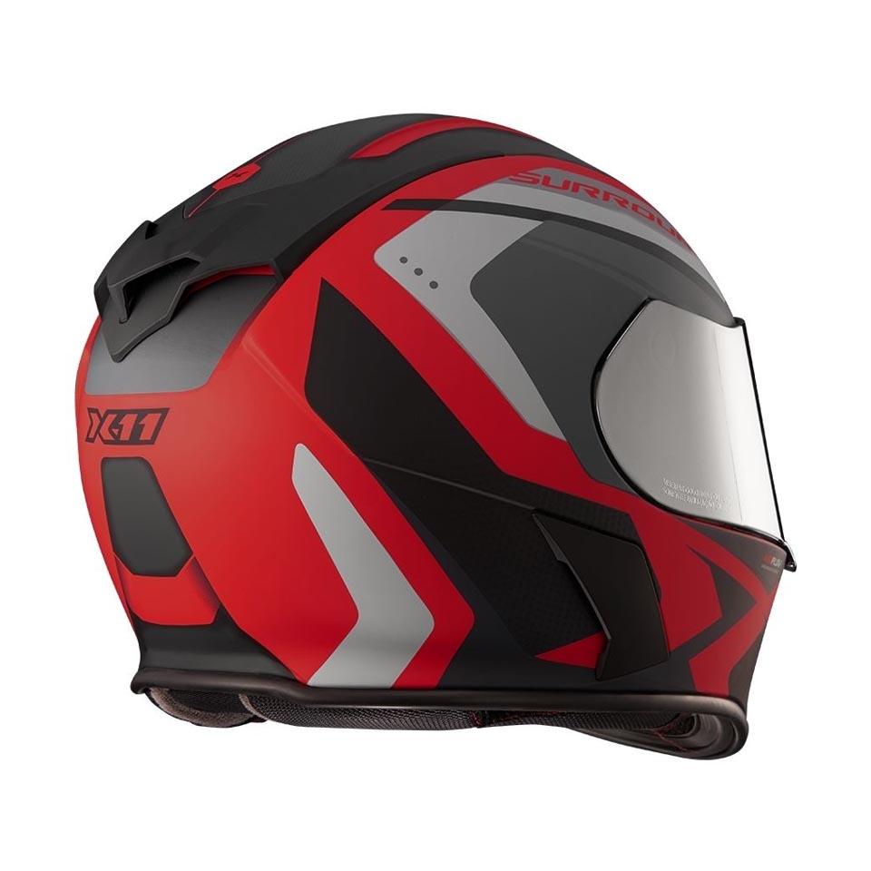 Capacete X11 Revo Pro Surround Vermelho