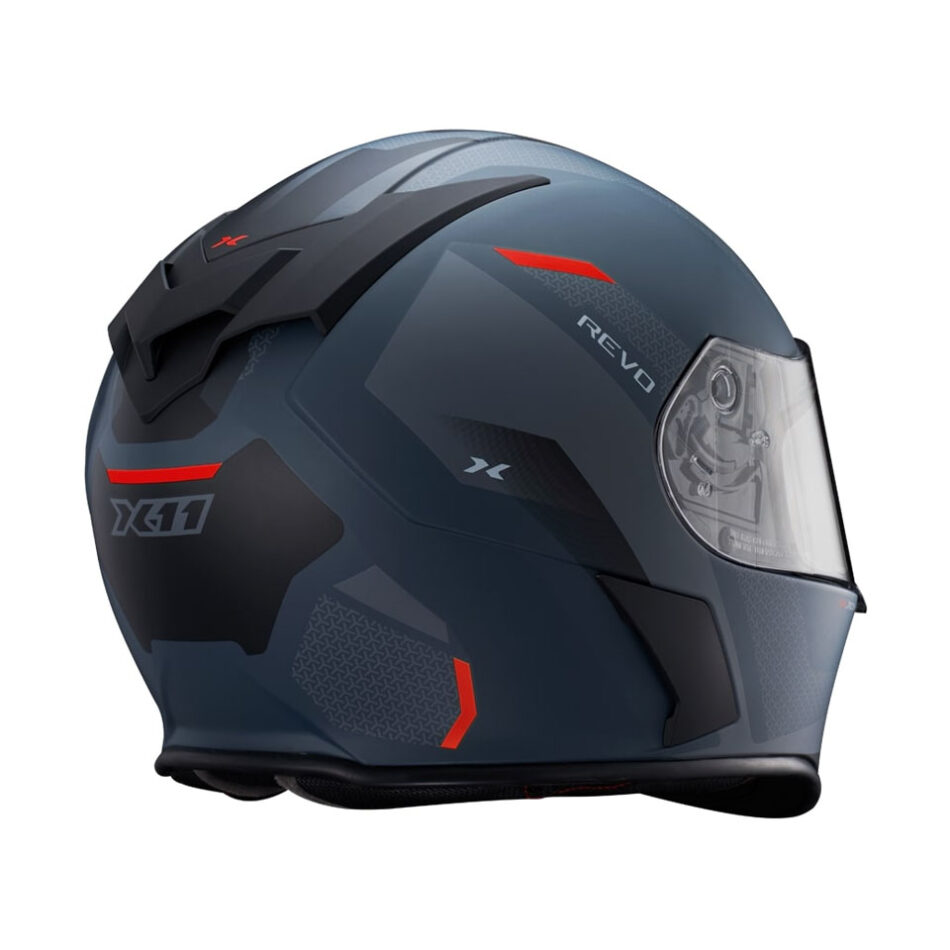 Capacete X11 Revo Vision SV Vermelho e Cinza