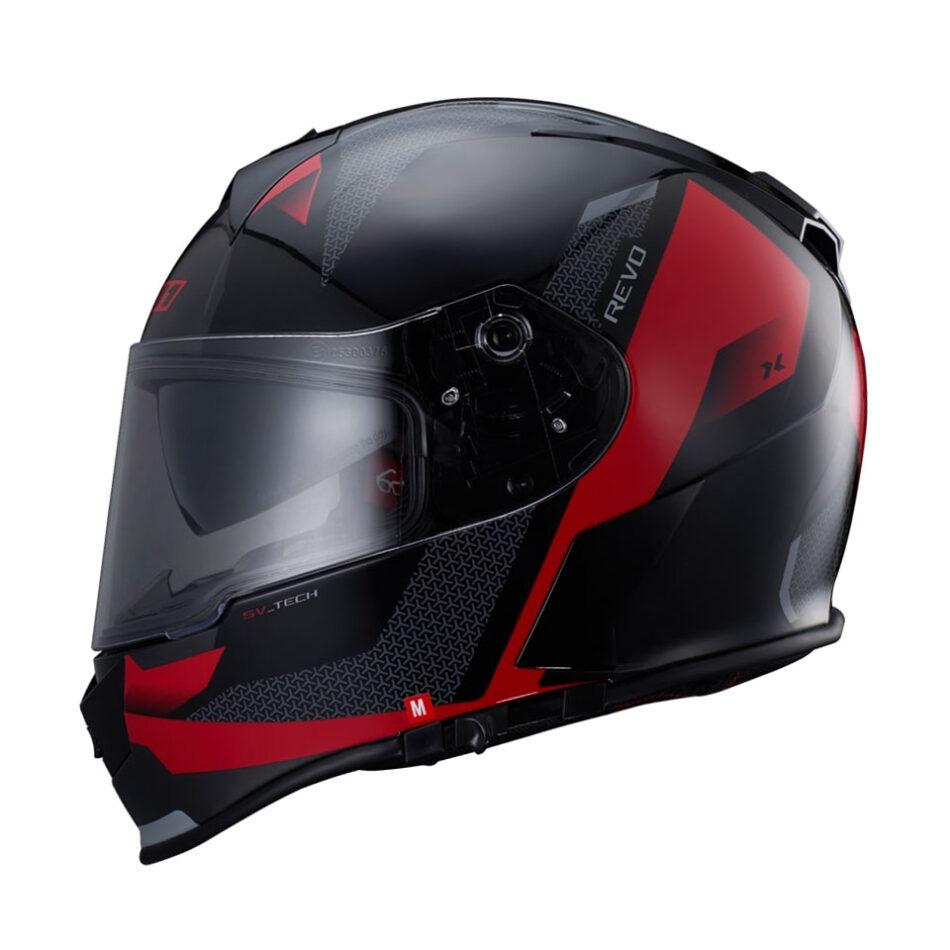 Capacete X11 Revo Vision SV Vermelho e Preto