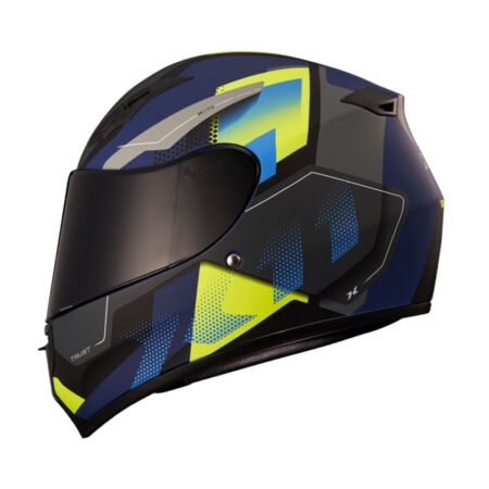 Capacete X11 Trust Pro Transit Azul e Verde
