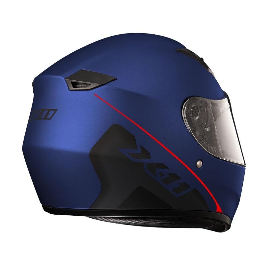 Capacete X11 Trust Solides Azul