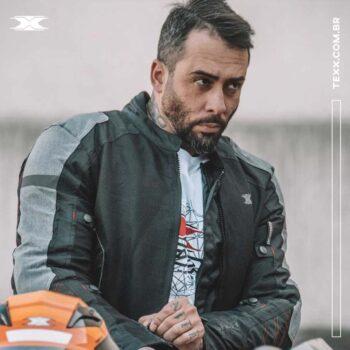 Jaqueta Texx Saga Four Season V2 Masculina Preta E Cinza