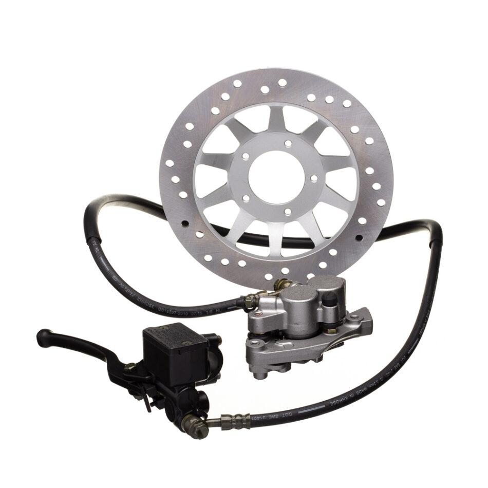 Sistema De Freio Completo Gp7 Bros 150 Esd (cilindro Mestre C/ Manete - Inter Freio - Flexivel Com Fluido - Caliper C/ P