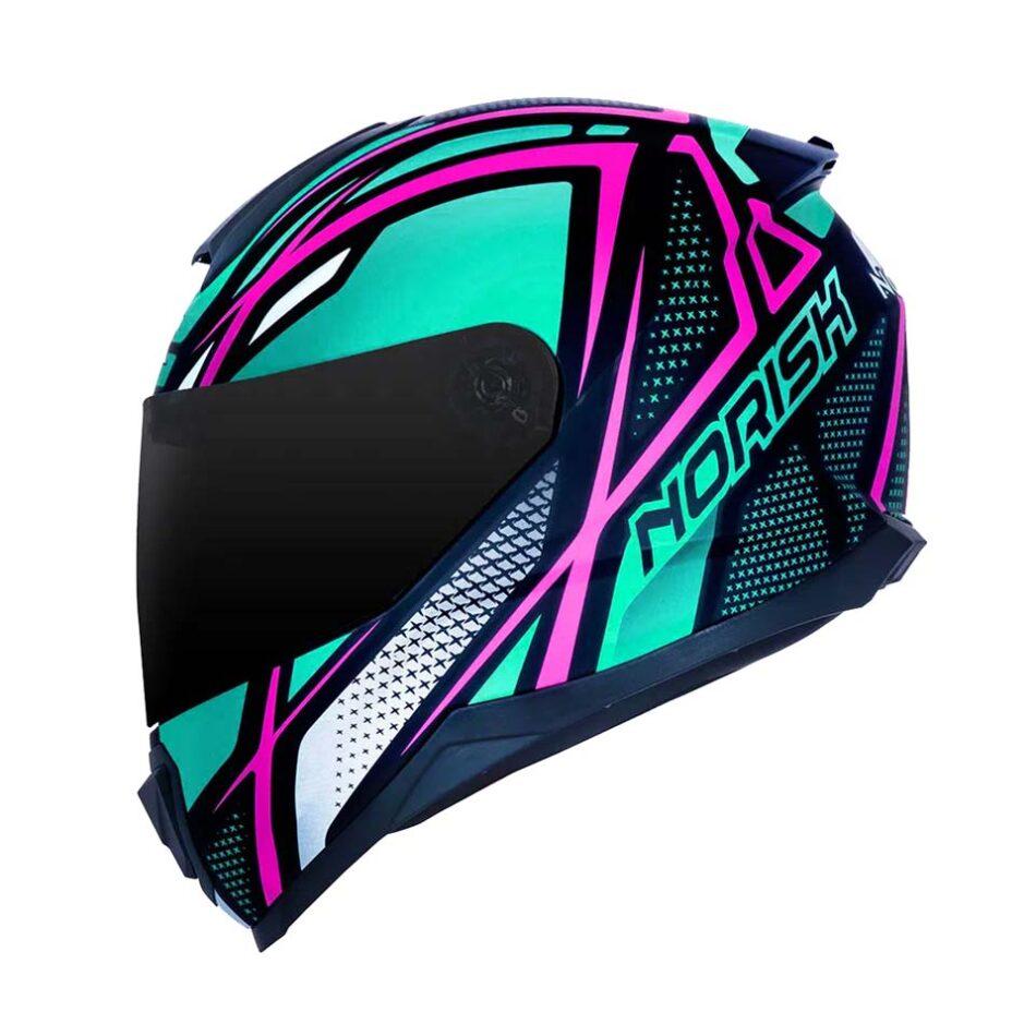 Capacete Norisk FF802 Razor Ninja Matte Pink Blue