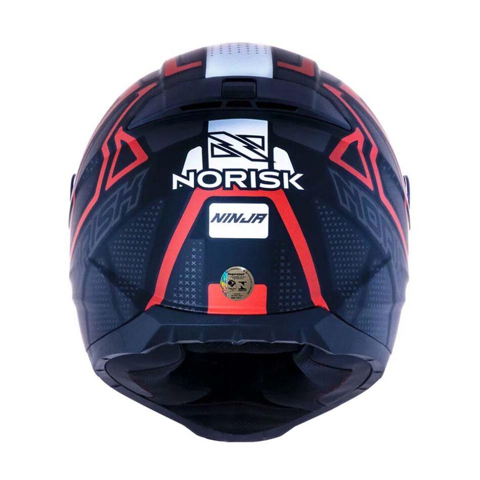 Capacete Norisk FF802 Razor Ninja Matte Black Titanium Red
