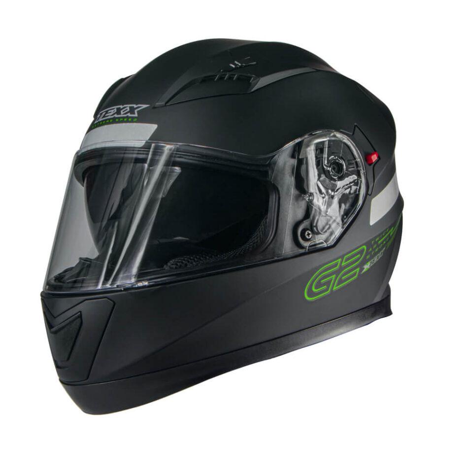 Capacete Texx G2 Solido Preto Verde