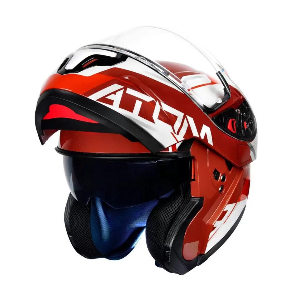 Capacete Mt Sv Atom Quark Red