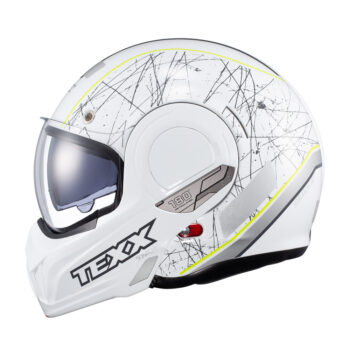 Capacete Texx Stratos 180 Scratched Branco E Verde